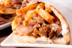 Close up to gyros Stock Photo