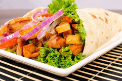 Close up to kebab Royalty Free Stock Photography