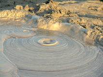 Close up to a Mud Volcano Royalty Free Stock Image