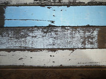 Close up to old color wood texture background, material for inte Stock Image