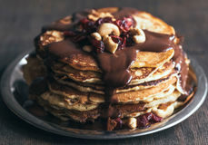 Close up to pancakes Stock Photo