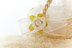 Close up to the rice for wedding Stock Photos