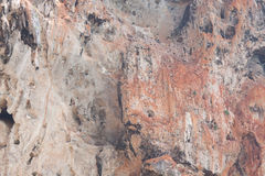 Close up to rock face. Royalty Free Stock Images