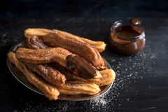 Traditional Mexican dessert churros Stock Image