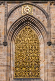 Close up to window, St. Vitus Cathedral Stock Image