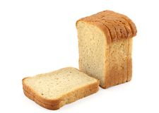 Close-up of toast bread on white #2 Stock Images