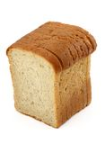 Close-up of toast bread on white Stock Photography