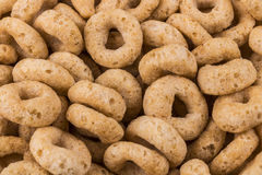Close Up of Toasted Oats Cereal. Oats have been shown to lower c. Holesterol royalty free stock photo