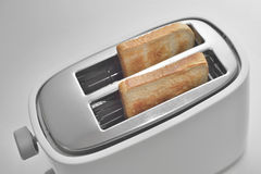 Close up of a toaster with slices of bread Royalty Free Stock Images