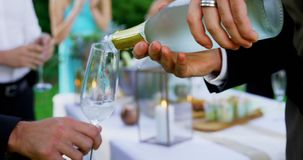 Toasting with champagne glasses at wedding 4K 4k