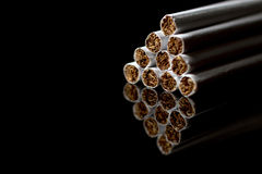 Close-up of Tobacco Cigarettes Background Royalty Free Stock Photo