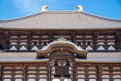 Close up Todaiji Temple at Nara Prefecture, Japan stock photo