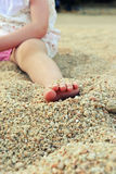 Close up toddler foot Royalty Free Stock Photos