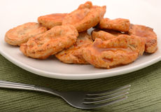 Close up of tofu chicken tender strips Royalty Free Stock Photography