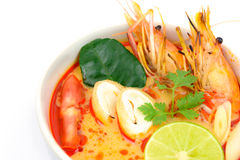 Close up Tom Yum Soup fotos de stock