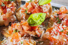 Close-up tomatoe bruschetta Stock Photography