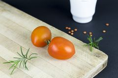 Close-up of Tomatoes on Table royalty free stock image
