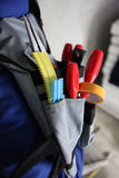 Close-up of tool belt Royalty Free Stock Photo