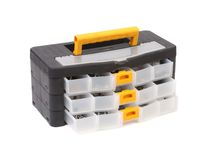 Close up of tool box. Isolated on a white background royalty free stock photography