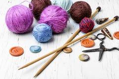 Close-up of tool knitting stock photos