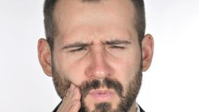 Close up of Toothache, Man with Tooth Infection stock video