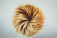 Close up Toothpick macro background Royalty Free Stock Image