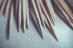 Close up Toothpick macro background Stock Image