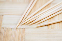 Close up of the toothpicks. Royalty Free Stock Photo