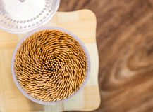 Close up of the toothpicks. Stock Image