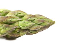 Close-up of top asparagus. Royalty Free Stock Images
