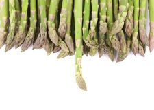 Close up of top asparagus. Royalty Free Stock Photos