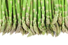 Close up of top asparagus. Stock Images