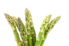 Close-up of top asparaguses Royalty Free Stock Image