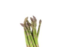 Close up of top asparaguses. Stock Photo