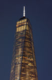 Close up of top facade of Freedom Tower in Lower Manhattan Royalty Free Stock Photography