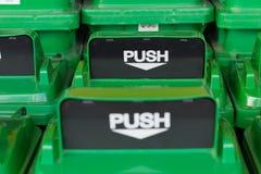 Close up top green push hole or waste drop Stock Photos