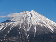 Close up of the top of Mount Fuji in Japan Stock Photos