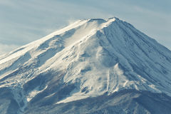 Close up the top of Mount Fuji at morning time Royalty Free Stock Photos