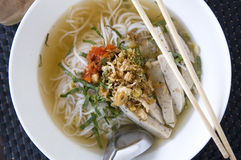 Close up top of pho bowl Royalty Free Stock Photography