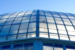 Close Up of Top Windows on Conservatory or Greenhouse Stock Photos