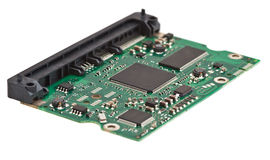Close-Up topside of PCB Stock Image