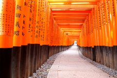 Close-up of Torii gate Stock Image