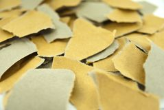 Close up torn brown paper Royalty Free Stock Image