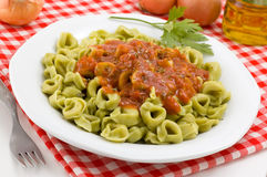 Close-up of tortellini dish. Stock Photos