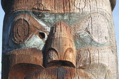 Close up of a Totem Pole Royalty Free Stock Images