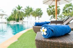 Free Close-up Towel On Beach Chair Stock Images - 209144684