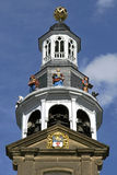 Close-up of tower of City Hall, Roermond Stock Photo