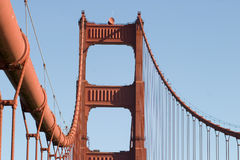 Close up tower Golden Gate royalty free stock images