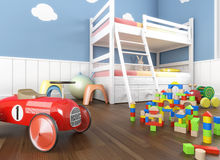 Close up toys in children´s room Stock Photography