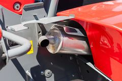 Close up of tractor exhaust pipe. Stock Photos
